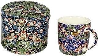 LEONARDO William Morris Blue Strawberry Thief Tin with Coffee and Tea Mug