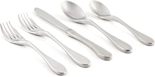 Knork 2 Original Silverware Stainless Steel Metal Utensils Flatware Cutlery Place Setting, Matte Silver