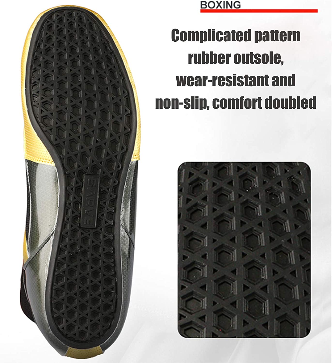 QIAO High Top Mens Wrestling Boxing Shoes Non-Slip Breathable Boxing Wrestling Training Shoes for Men Women Sport Athletic Casual Shoes