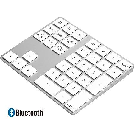 Rytaki Teclado numérico Bluetooth Aluminio para Mac 34 Teclas Externo con múltiples accesos directos para computadora Laptop Windows Surface Pro Apple ...