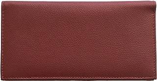 Burgundy Basic Leather Checkbook Cover