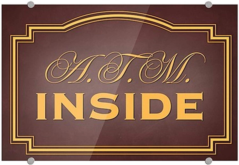 ATM Inside CGSignLab Classic Brown Premium Acrylic Sign 36x24