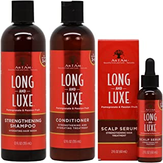 As I Am Long & Luxe Strengthening Shampoo + Conditioner + Scalp Serum Treatment