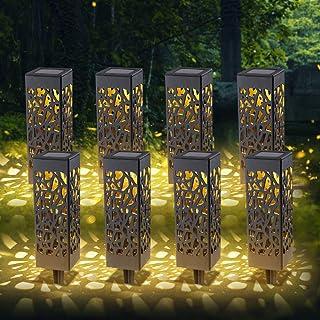 RANJIMA Lampe Solaire Jardin,8 Pièces Éclairage Solaire Extérieur de Jardin, Étanche LED Lumiere Paysage Lampe, Solaire Ja...