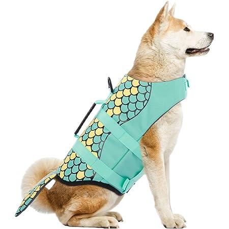 TESOON Pet Doggy Life Jacket Assorted Color Choice Pet Swimware /& Saver Life Vest Coat Flotation Float Life Jacket Aid Buoyancy