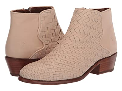 Frye Carson Woven Bootie (Off-White Soft Full Grain) Women