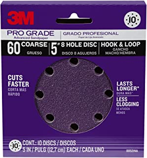 3M 88521NA-9-B Pro Grade 5-Inch 8-Hole Sanding Disc