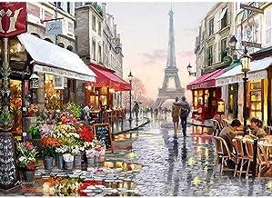 لوحة مرصعة بالماس خماسية الابعاد يمكنك وضعها بنفسك من جوديلاك، لصنع لوحة المدينة بالماس بشكل مكعب دائري، مجموعات لوحات فنو...
