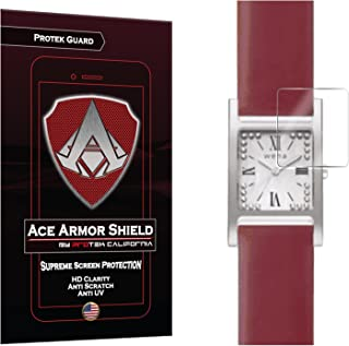 Ace Armor Shield Protek Guard (6 Pack) Screen Protector for The Sony Wena Square Smartwatch with Free Lifetime Replacement Warranty