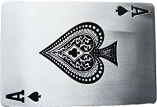 Ace Spade Poker Card Vintage Rectangle Belt Buckle Gurtelschnalle