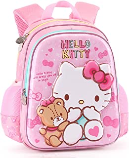 b1d4d3f61 YOURNELO Girl Cartoon 3D Hello Kitty Hard Surface Rucksack School Backpack  Bookbag