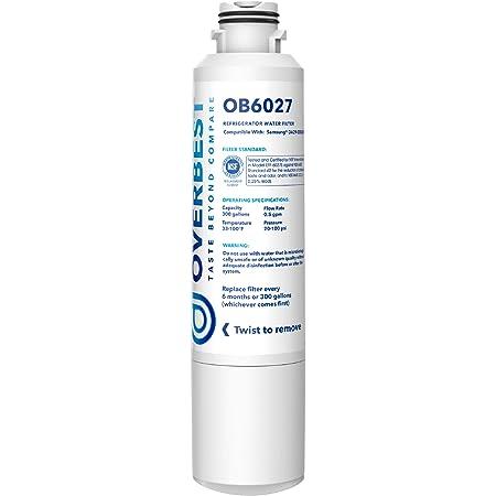 Overbest DA29-00020B Refrigerator Water Filter, Replacement for Samsung DA29-00020B, DA97-08006A, HAF-CIN/EXP, 46-9101, RF4267HARS