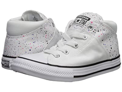 Converse Kids Chuck Taylor(r) All-Star(r) Madison Galaxy Dust Mid (Little Kid/Big Kid) (White/Prime Pink/White) Girls Shoes