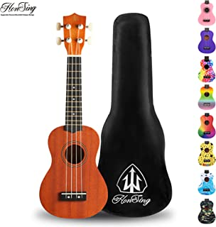 honsing Ukulele Soprano with Gig Bag for Beginners 21
