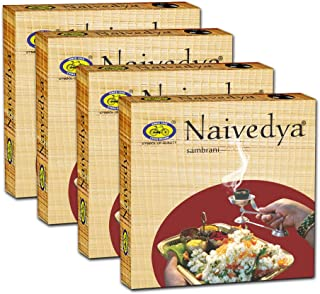 Om Shanthi Naivedya Sambrani with Resin, Benzoin - Pack of 4 (12 Cups per Pack)