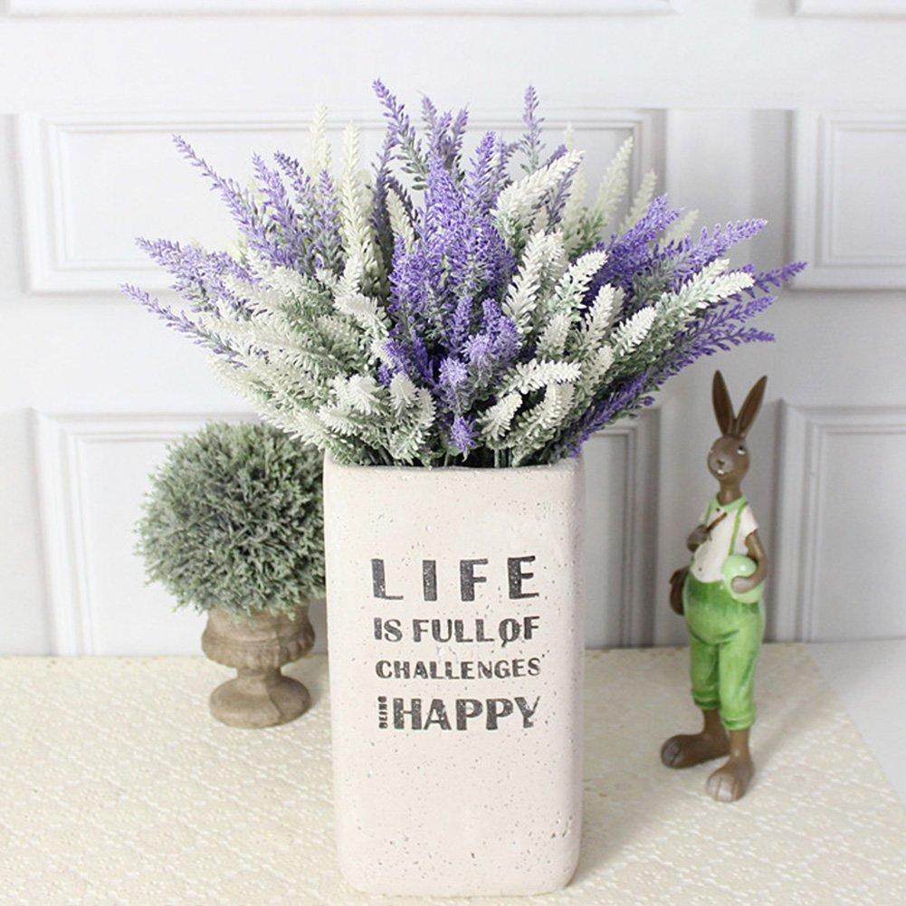 Flores artificiales falsas, 4 unidades, flores de lavanda ...
