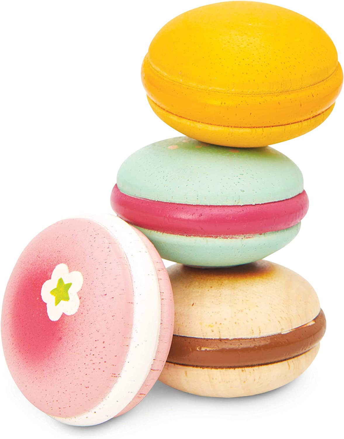 Le Toy Van - Educational Wooden Honeybake Pretend Play French Macarons Set Patisserie Toy Cakes   Girls Birthday Cake Or Afternoon Tea Role Play Toy (TV330)