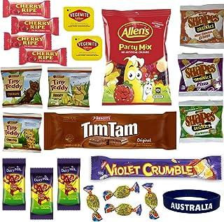 Best of Australia Chocolate & Snack Box - Most Popular Australian Snacks - Tim Tam, Allen's Party Mix, Vegemite, Cherry Ri...