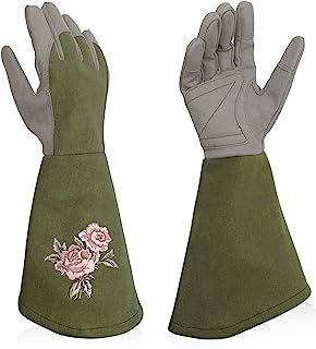 دستکش گلدوزی گل رز گلدانی Intra-FIT دستکش های باغبانی گل رز با محافظ فوق العاده بلند ساعد برای خانم ها و آقایان بنفش بنفش آبی زیتونی سبز روشن سبز زیتونی سبز روشن و آبی روشن صورتی صورتی مایل به قرمز
