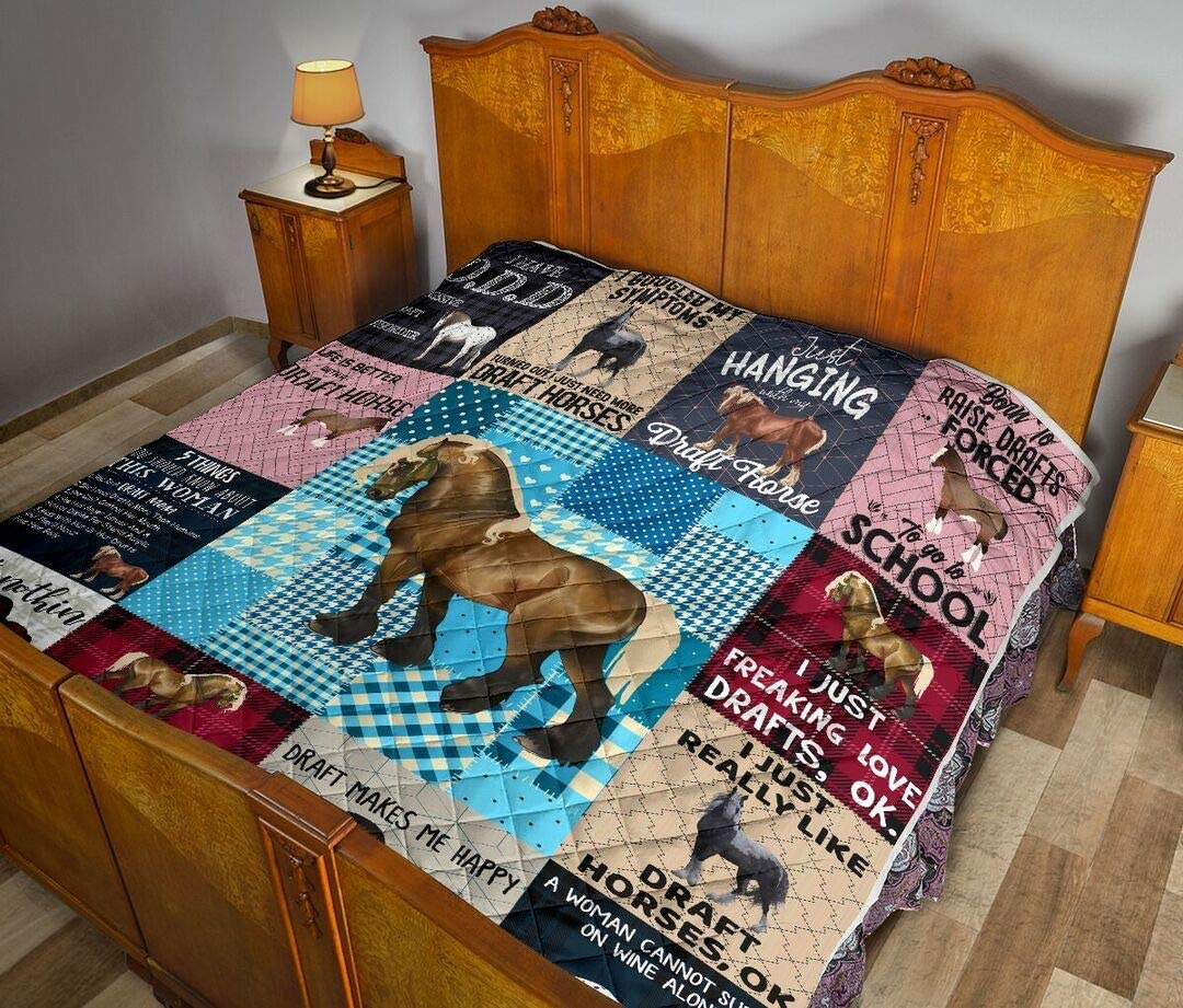 Personalized Draft Horse I Just All-S Chicago Mall Drafts Love Freaking Quilt Brand Cheap Sale Venue