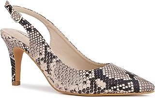 ceabd464af0863 MaxMuxun Chaussures à Talon Aiguilles avec Boucle et Bande Pointue sur Le  Côté Pointu Conception Élégante