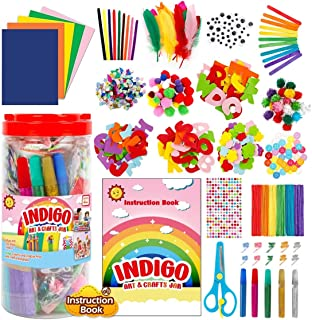 Indigo Art And Craft Supplies Storage Set For Home And School Creative Activities-1000pcs DIY Crafts Kit With Pipe Cleaner...