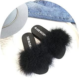 Fur Slippers Platform Shoes Fox Fur Slides Candy Color Slipper Indoor Sandals