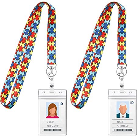 Lanyard Badge Clip Badge Holder Stethoscope ID Tag Gift 714 Badge Clip Autism Awareness Badge Reel Retractable Badge ID Medical gift