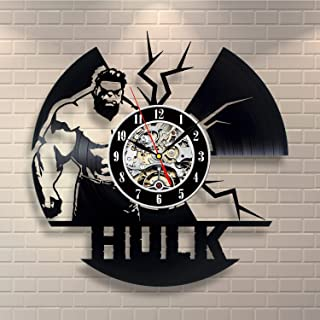 Wood Crafty Shop Hulk Marvel Comics Vinyl Record Wall Clock - Unique Wall Decor - The Best Gift Idea for Any Event Birthday Gift, Wedding Gift