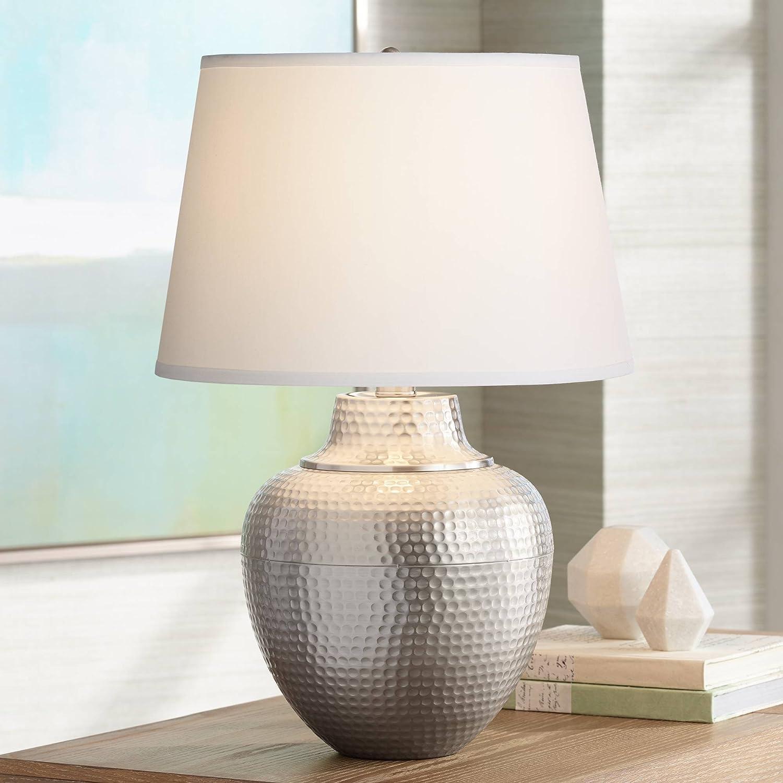Brighton 5 ☆ popular Modern Contemporary Table Lamp Brushed Hammered Nickel Under blast sales