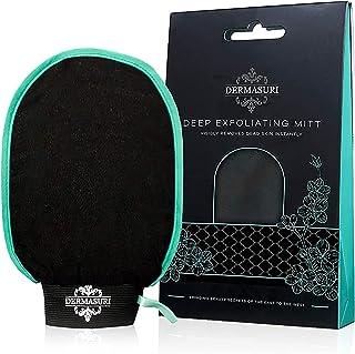 Dermasuri Deep Exfoliating Mitt Body Scrub for Soft Skin - Skin Cleanser - Part of the Best Body Care Kit for Women & Men...