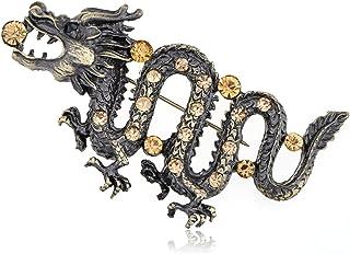 Broche De Forme De Vol De Dragon Broche Revers V/êtements Sac Bijoux Accessoire Cadeau Violet JGONas Broche De Broche De Dinosaure Dragon Punk