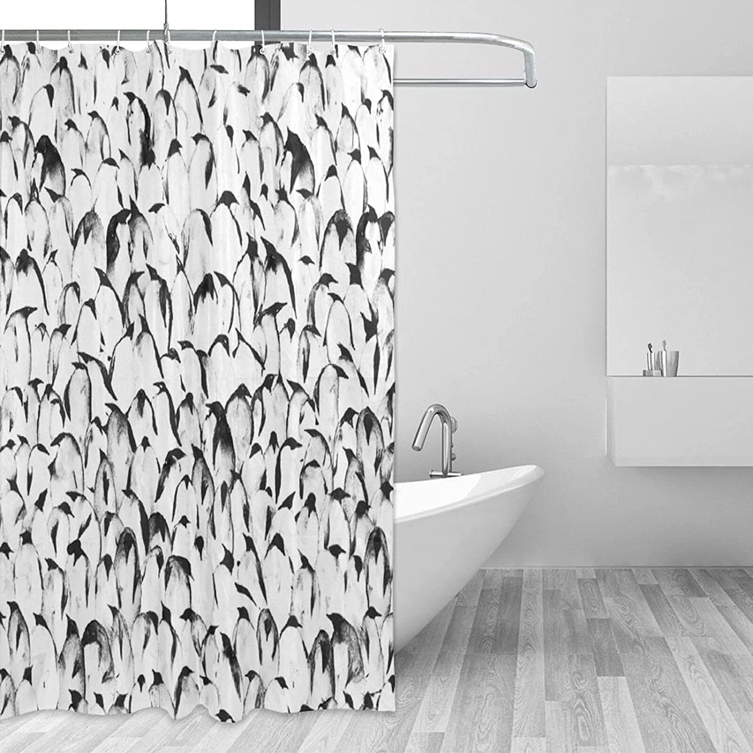 ~ Penguin Bathroom Shower Curtain Waterpro with X Max 71% OFF 72
