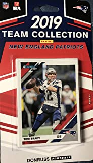 New England Patriots 2019 Donruss Factory Sealed Complete Mint 12 Card Team Set with Tom Brady, Rob Gronkowski and Rookie Cards of Jarrett Stidham and N'Keal Harry Plus
