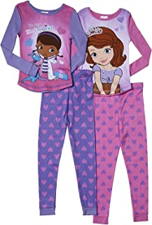 Girls' Doc McStuffins and Sofia The First 2 Pair Cotton Pajamas 2T