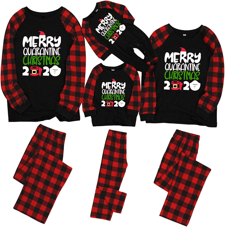 AODONG Christmas Family Women Men Kids Baby Nightgowns Sexy Matching Christmas Pajamas Set Sleepwear Winter Loungewear Long Sleeve Tops Shirts Button Down Hoodies Elastic Drawstring