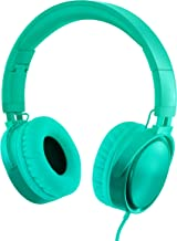 RockPapa Over Ear Stereo Foldabe Headphones Adjustable, Noise Isolating, Heavy Deep Bass, Folding Headsets with Microphone 3.5mm for Smart Phones Tablets Computers MP3/4 DVD Gradient Teal