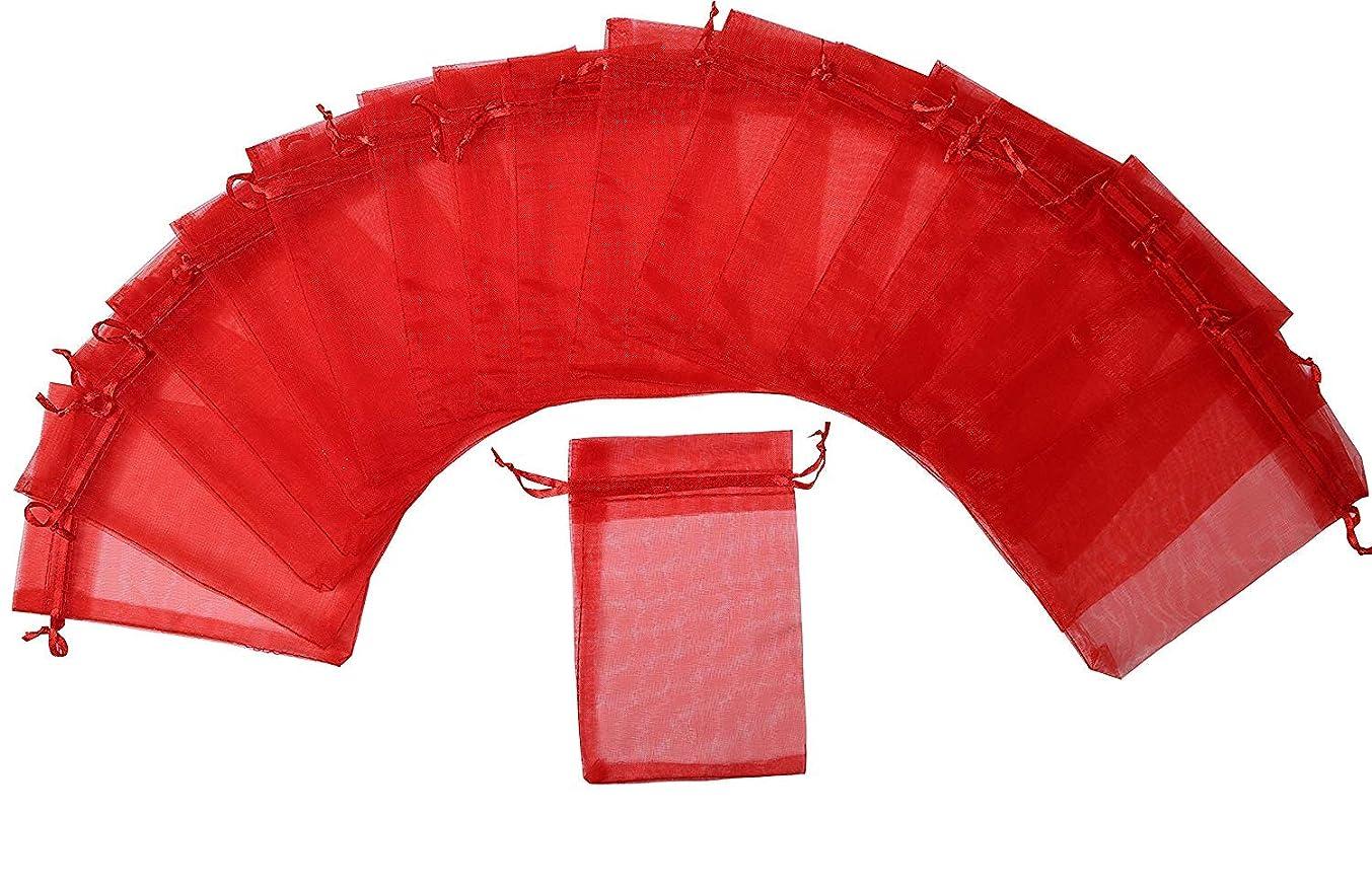 ZUUC Organza Drawstring Pouch Bag,2.8''W x3.6