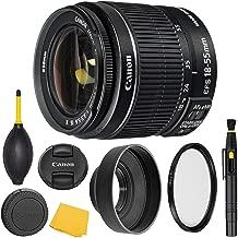 Canon EF-S 18-55mm f/3.5-5.6 is II Lens (2042B002) + AOM Pro Starter Bundle Kit - International Version (1 Year AOM Warranty)