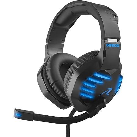 Redlemon Audífonos Gamer con Sonido HD 360° y Luz LED, Micrófono Flexible, Cable Auxiliar 3.5 mm, Control de Audio, Cable de Nylon Trenzado Ultra Resistente de 2m, Compatibilidad Universal, Mod. G9500