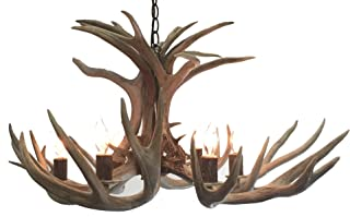 Five Light Mule Deer Tamarack Antler Chandelier