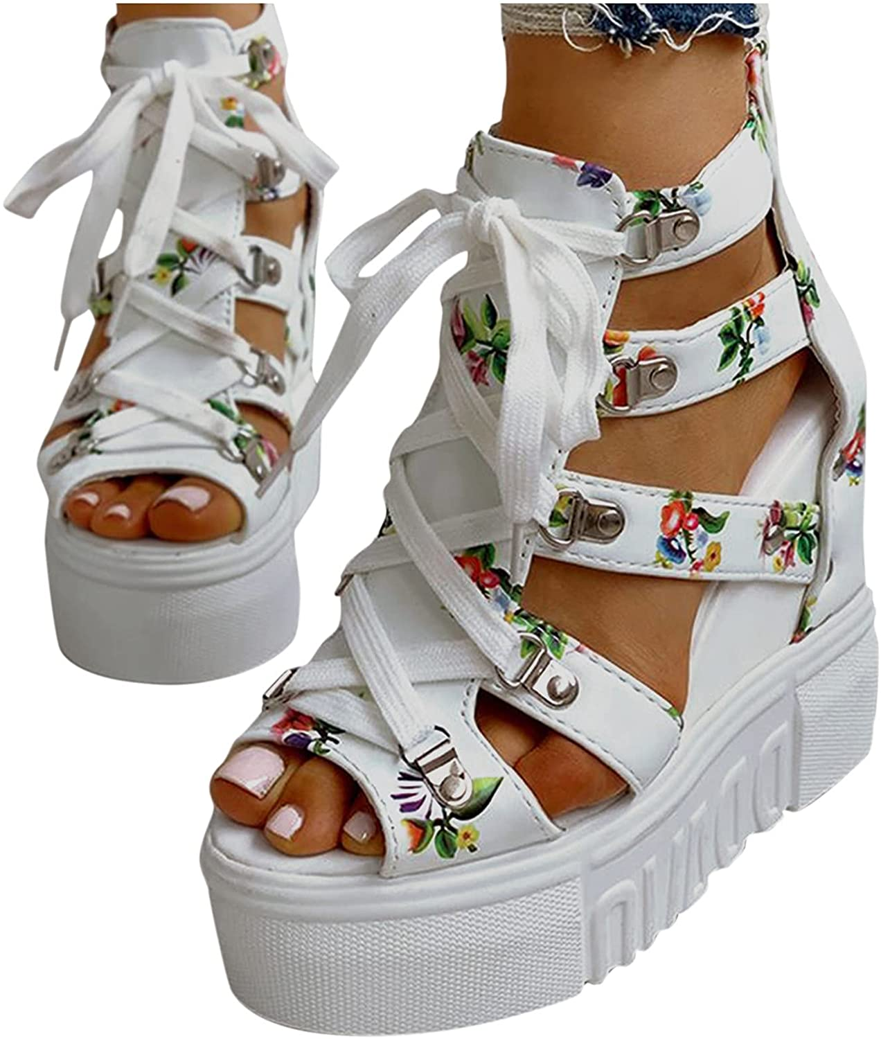 Popular brand Open Toe Sandals for Women Zippered Factory outlet Strappy Waterproof Platform