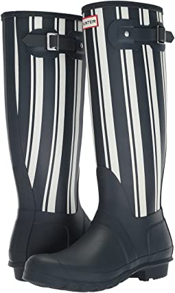Hunter - Original Garden Stripe Tall Rain Boots