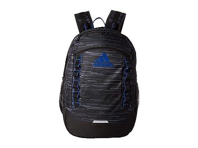 adidas Excel V Backpack (Looper Black/Collegiate Royal) Backpack Bags
