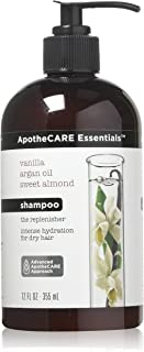 ApotheCARE Essentials Shampoo and Conditioner Vanilla, Argan Oil, Sweet Almond Shampoo 12 ounce