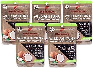 Tuna Keto Snack Pouch – No Carbs Wild Ahi Tuna in Coconut Oil (Pack of 5)