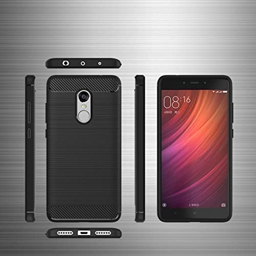 Bracevor BRXRN4CFRABL Back Case Cover For Xiaomi Redmi Note 4 Black