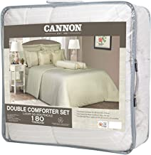CANNON Full Comforter 4 Pieces Set, Light Beige