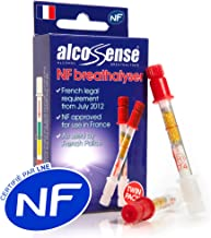 AlcoSense French NF Certified Breathalyzers for France - 2 Breathalysers Supplied in a Twin Pack Kit