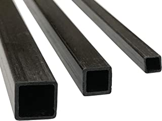 Projects requiring high Strength to Weight Components. Used for Drones Radio Controlled Vehicles 2 PULTRUDED-Square Carbon Fiber Rod 10mm X 1000mm 100/% Pultruded high Strength Carbon Fiber